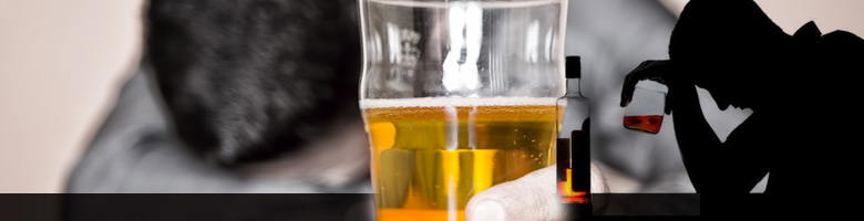 El principio de la acción del torpedo del alcoholismo